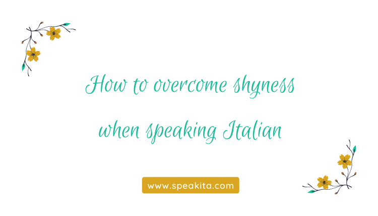 Overcome shyness when speaking